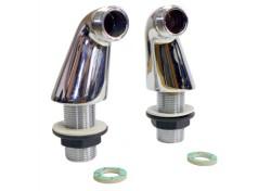 Připojovací koleno - 60mm, chrom (cena za pár)