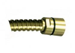 Sprchová kovová hadice (dvouzámková), zlatá