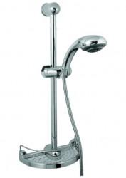 GEMINI, sprchová souprava, 5-polohová sprška, mýdelník, chrom