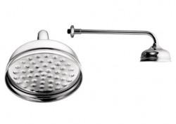 BELLE, retro hlavová sprcha s ramenem, celokovová
