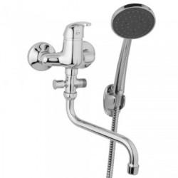 Nástěnná umyvadlová a sprchová baterie SLIM 100 mm s příslušenstvím, trubkové ramínko 200 mm  A10 31 31