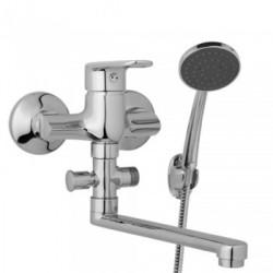 Nástěnná umyvadlová a sprchová baterie FINERY 100 mm s příslušenstvím, ramínko 200 mm  F10 31 01