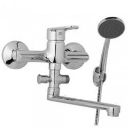 Nástěnná umyvadlová a sprchová baterie FINERY 150 mm s příslušenstvím, ramínko 200 mm  F10 36 01